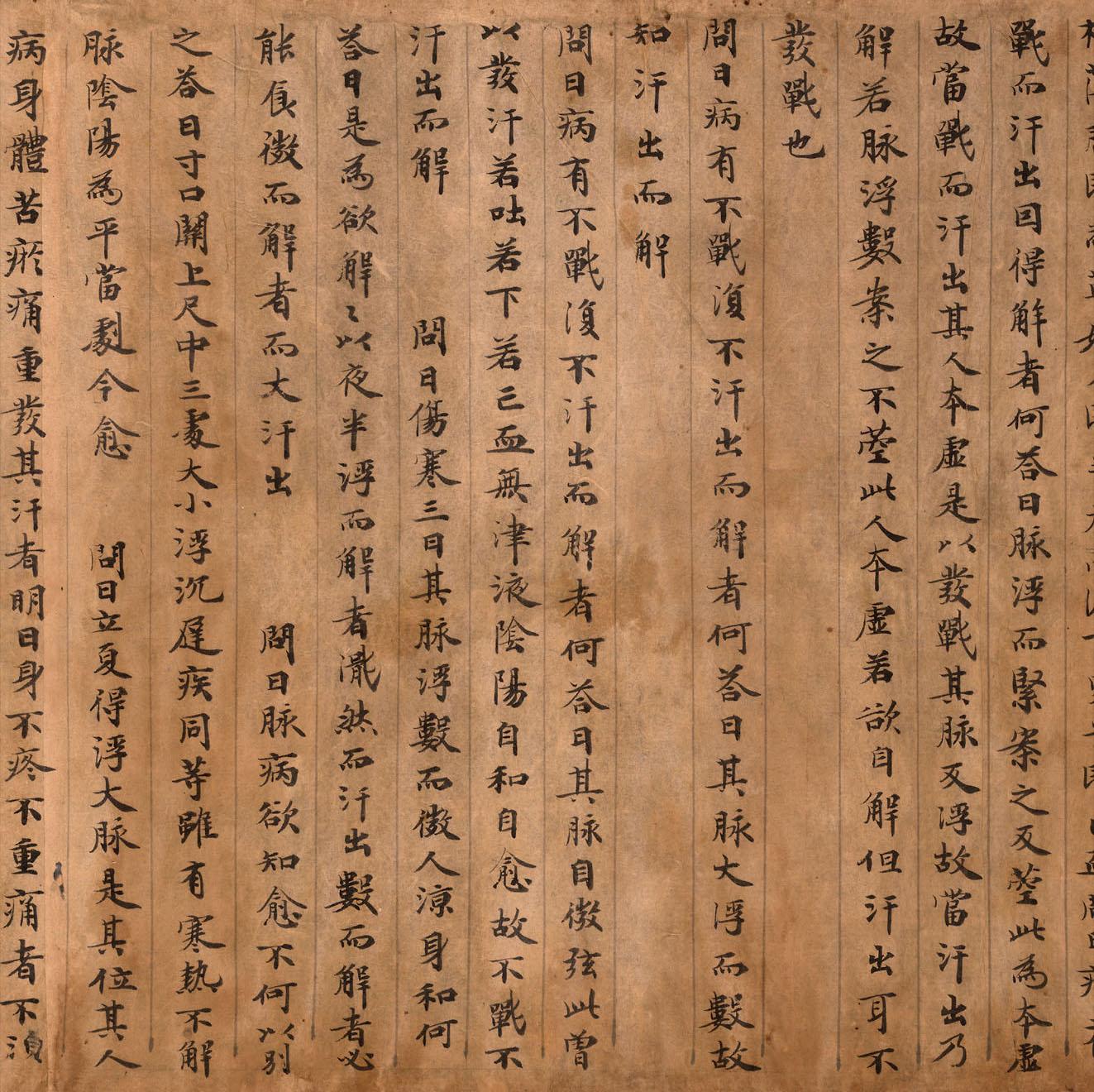 敦煌《医药文献》 纸本,卷轴 - 老排长 - 老排长(6660409)