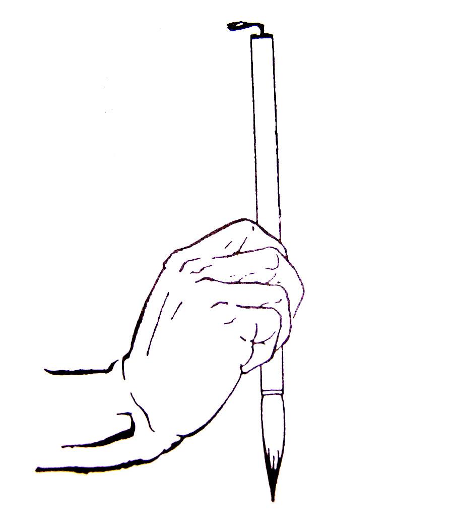 书法入门:执笔方法